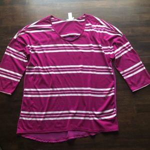 3/4 sleeve shirt from downeast basics size medium